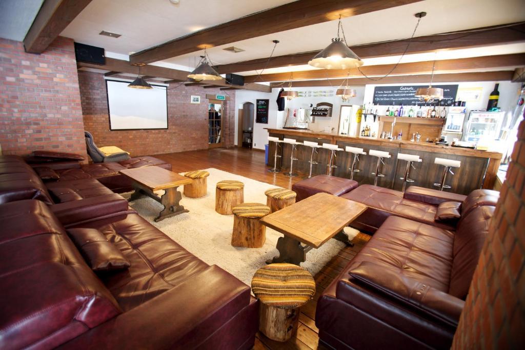 The lounge or bar area at The Lab Hakuba