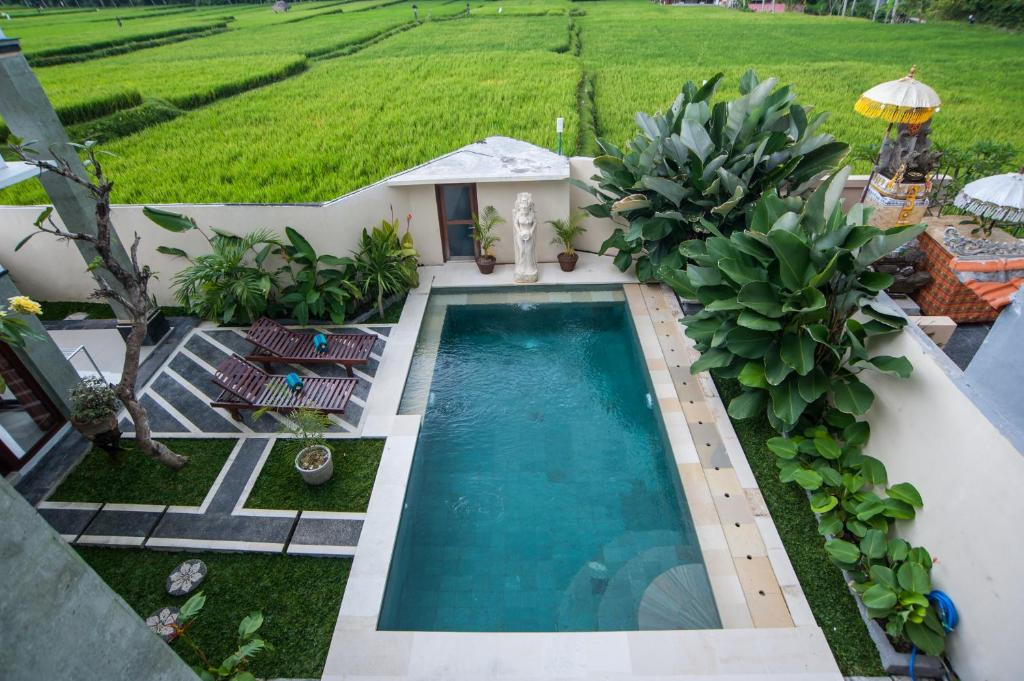 A view of the pool at Ananditha Villa or nearby