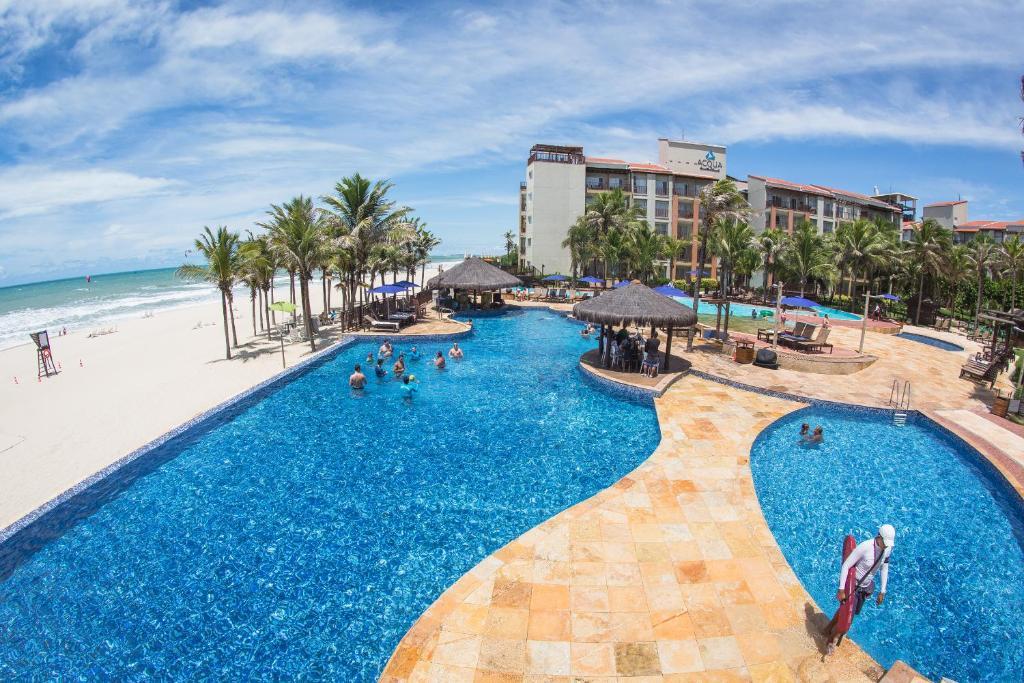 Baseinas apgyvendinimo įstaigoje Beach Park Resort - Acqua arba netoliese