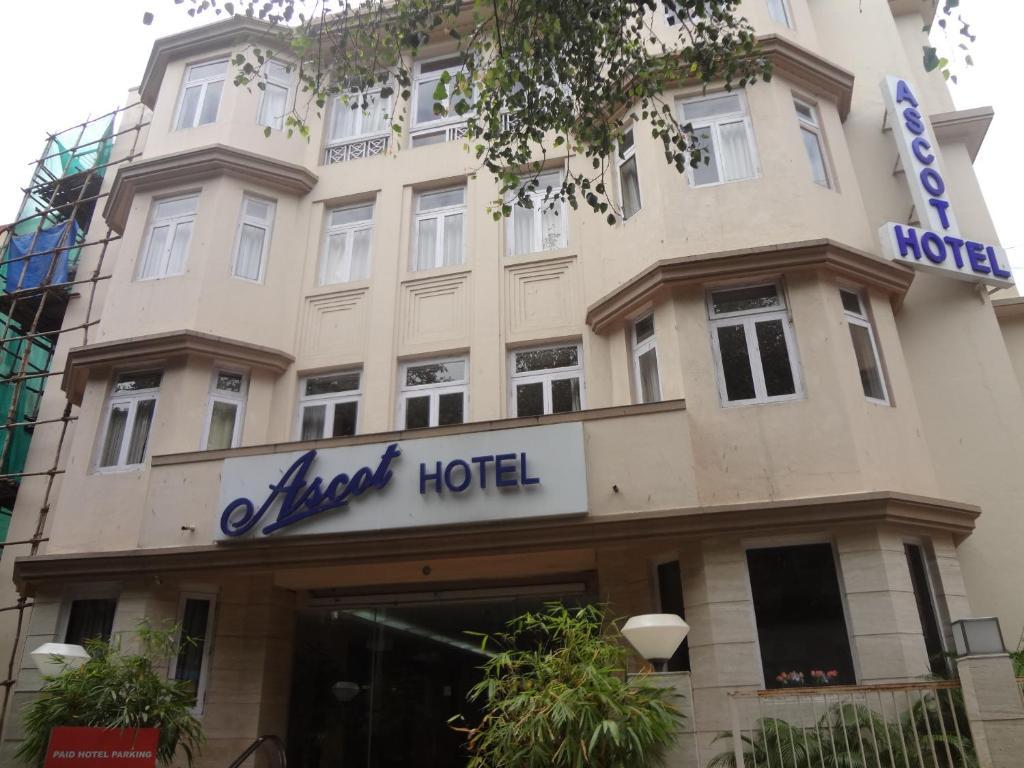 The facade or entrance of Ascot Hotel, Colaba