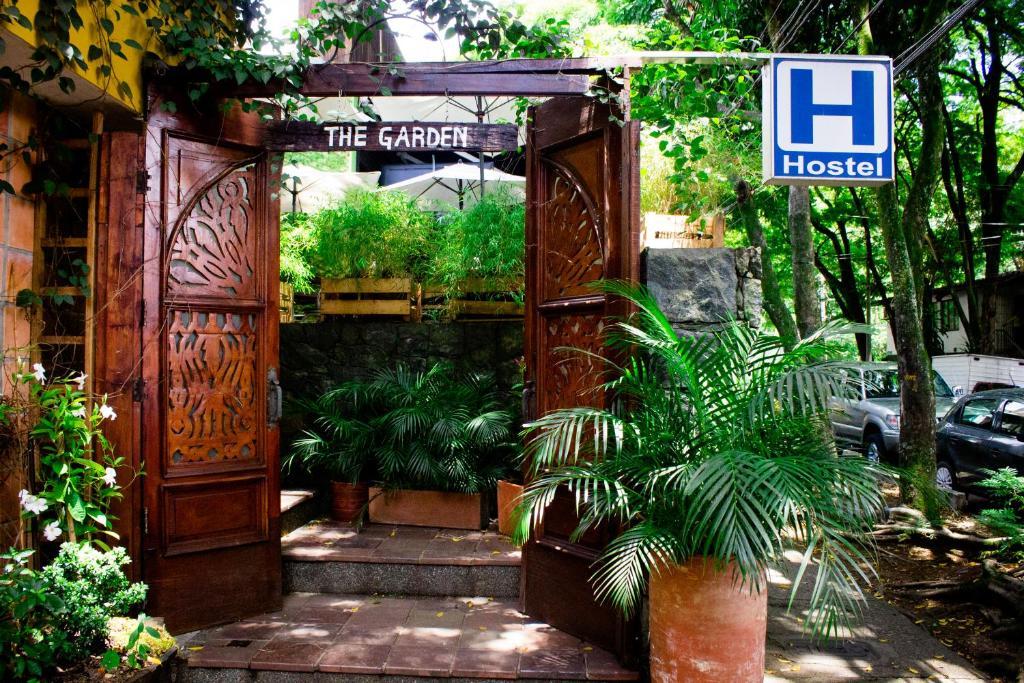 The facade or entrance of The Garden of Blues Hostel