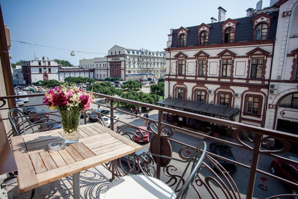 Ein Balkon oder eine Terrasse in der Unterkunft Boutique Hotel Palais Royal