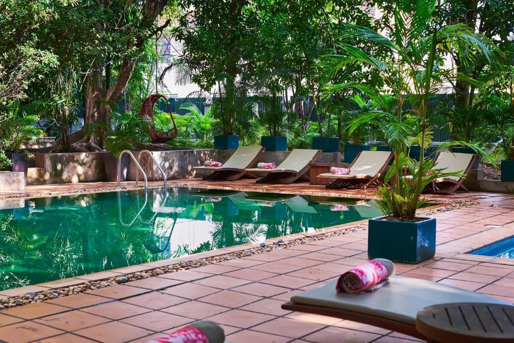 The swimming pool at or near The Kabiki