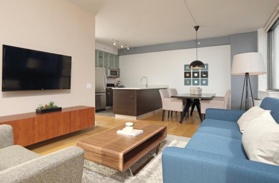 Zona de estar de Apartments Upper West Side
