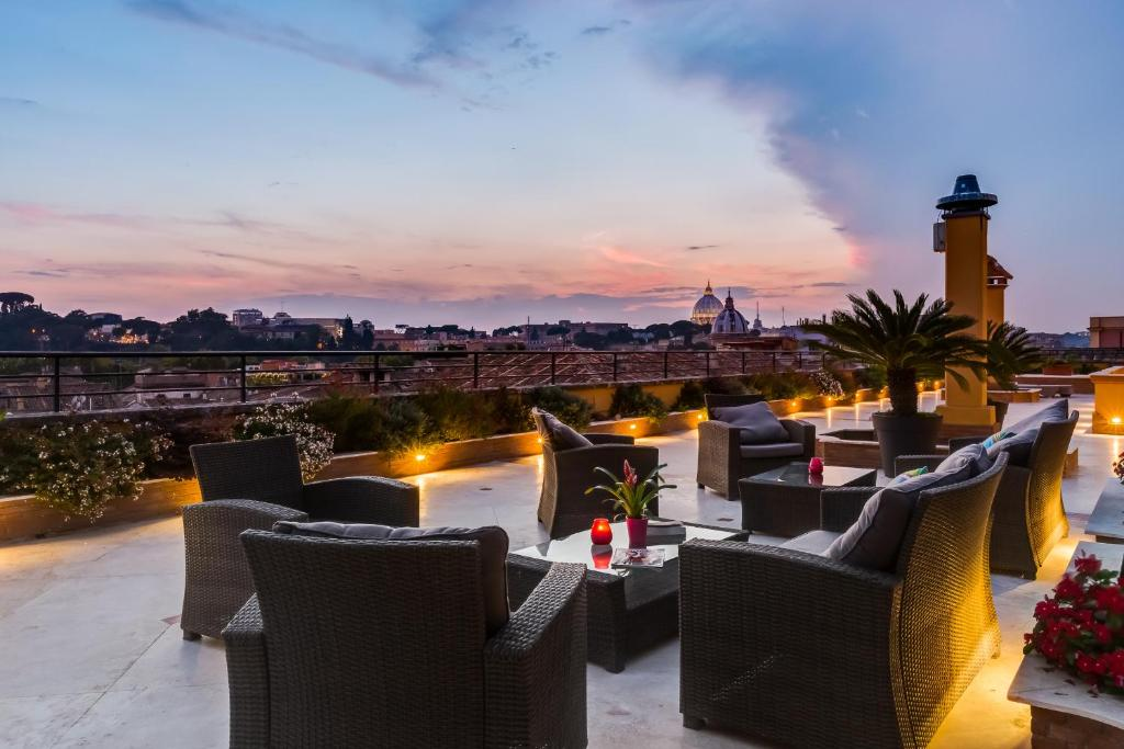 A patio or other outdoor area at Navona Queen Rooftop