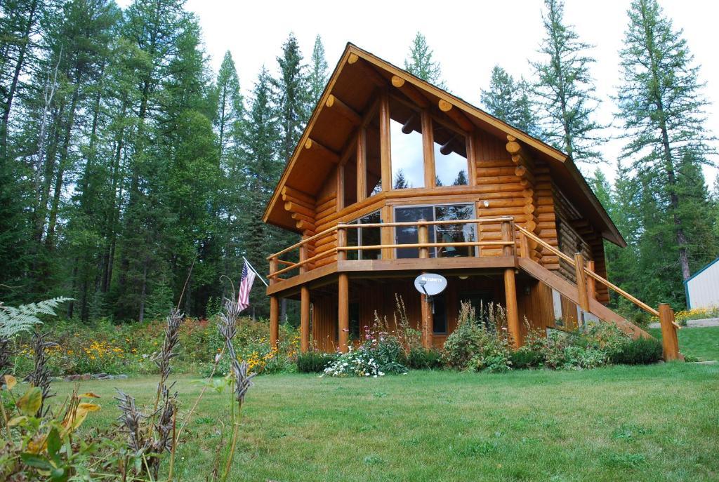 A garden outside Astrid Cabin Montana