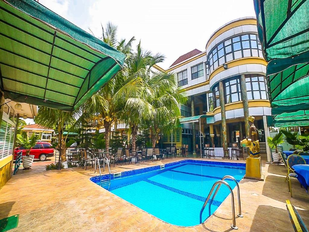 The swimming pool at or near Charleston Hotel Ltd