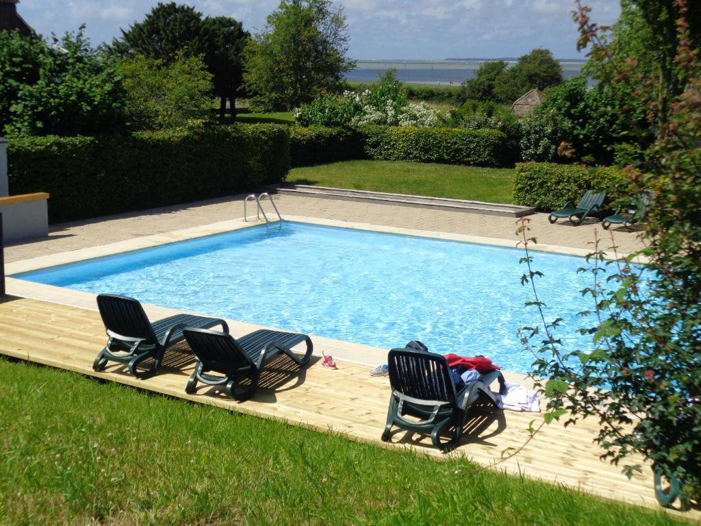 The swimming pool at or near Le Cap Hornu
