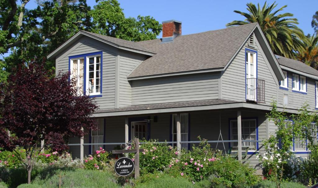 A garden outside Lavender, A Four Sisters Inn
