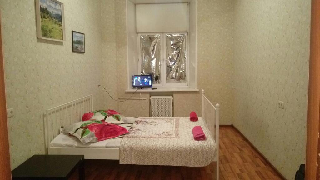 A seating area at Hostel Volga