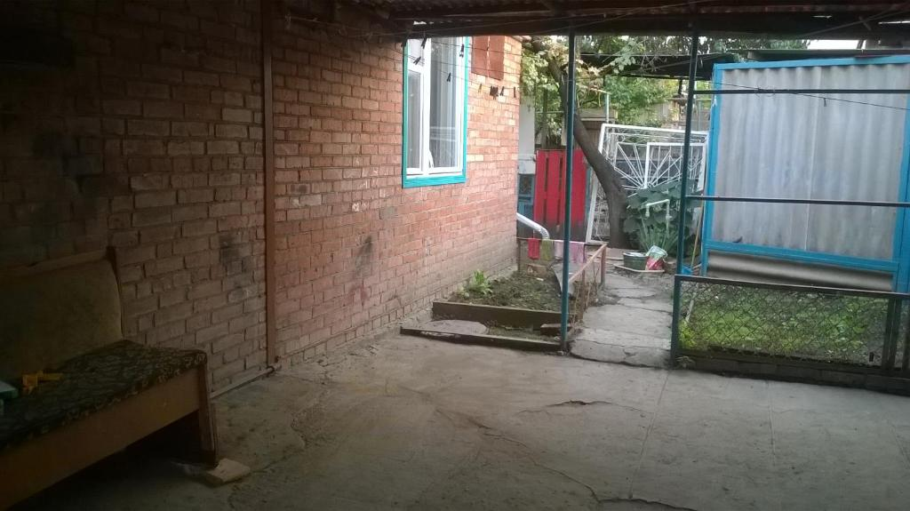A porch or other outdoor area at Hostel Uyutny