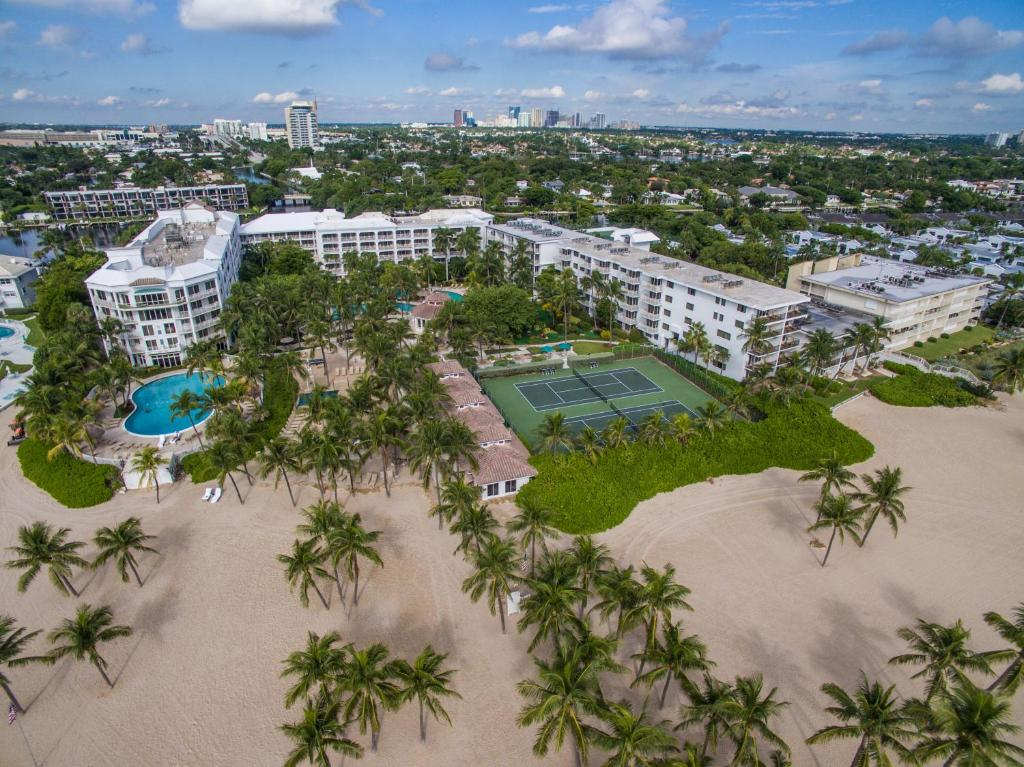 A bird's-eye view of The Lago Mar Beach Resort and Club