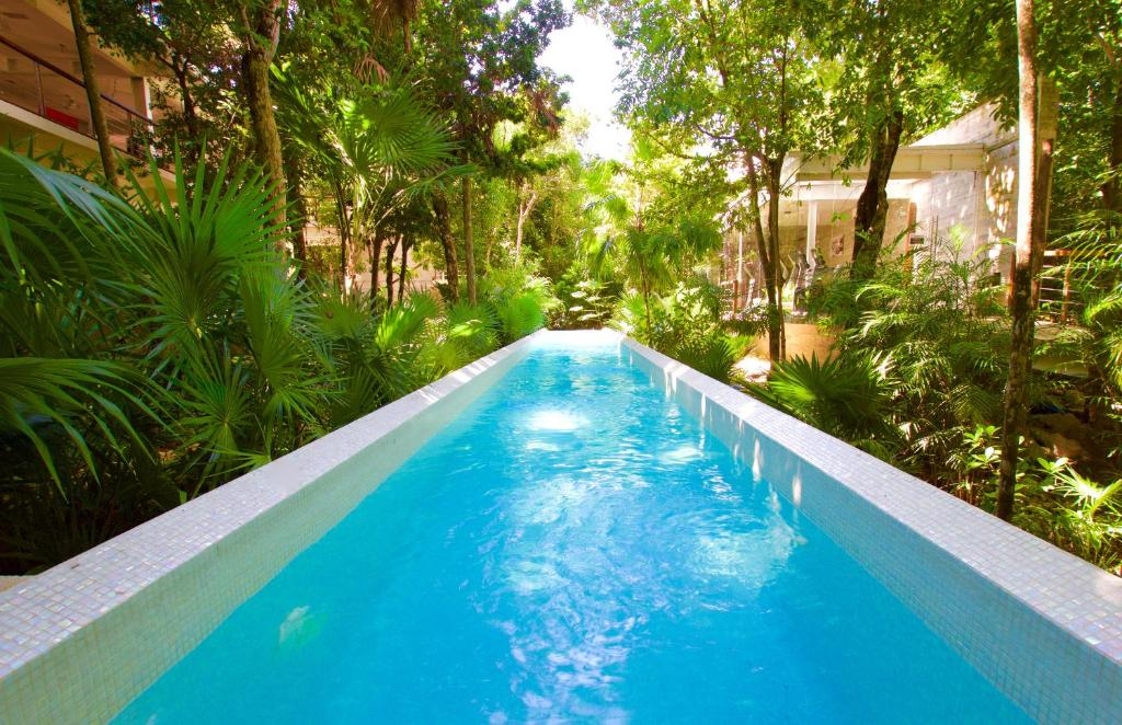 The swimming pool at or near TAO Luxury Condo Mexico