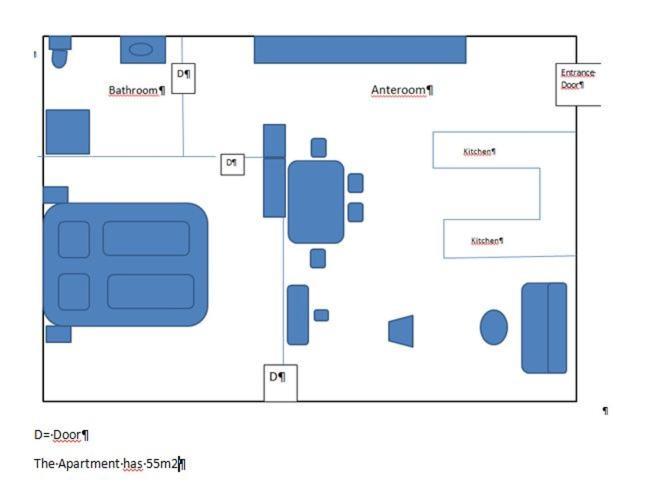 The floor plan of Appartement Döbling