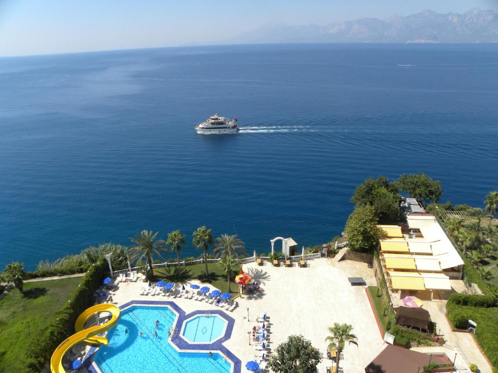 A bird's-eye view of Adonis Hotel