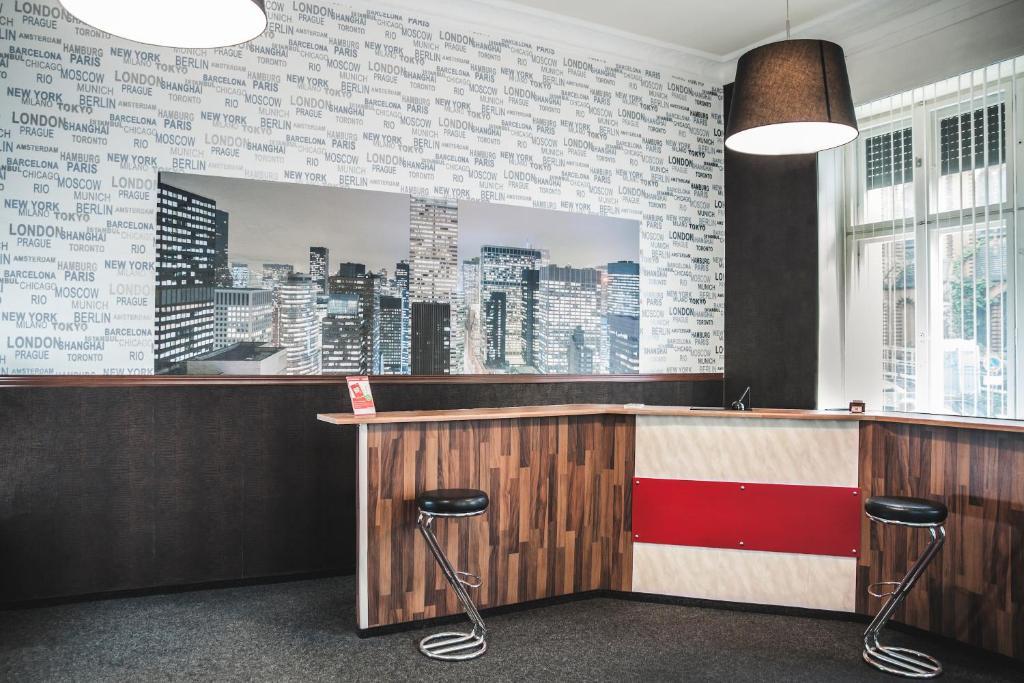 Lounge oder Bar in der Unterkunft Hotel-Pension Insor