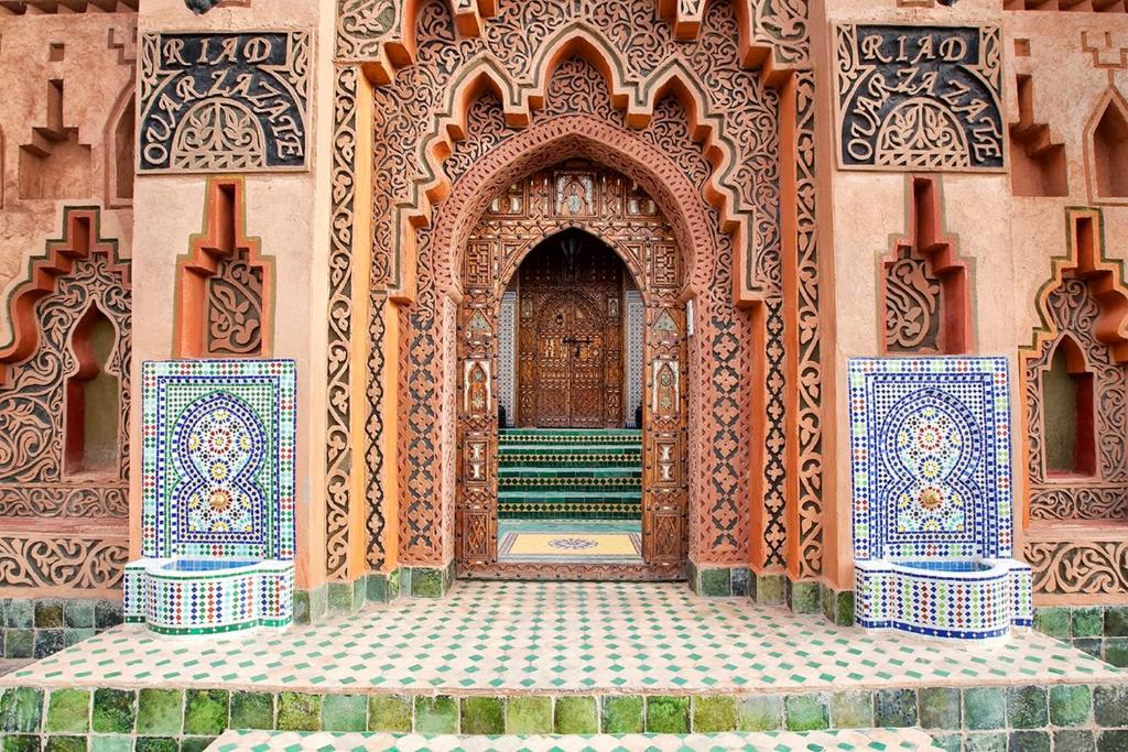 The facade or entrance of Riad Ouarzazate