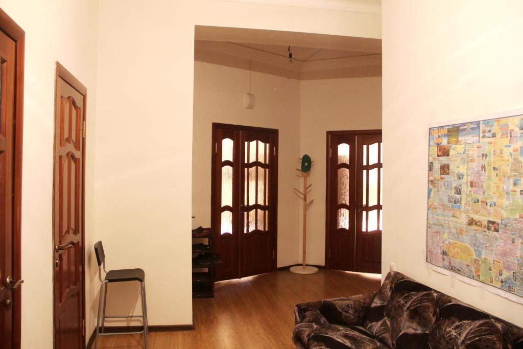 Гостиная зона в Hostel Tourist