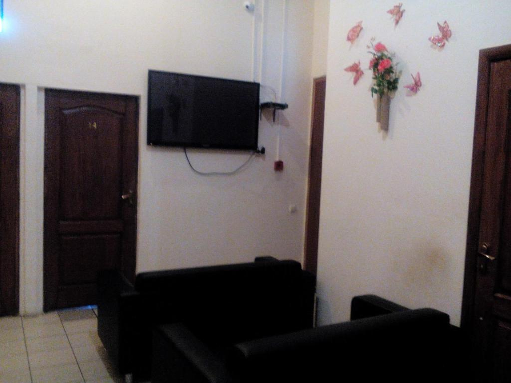 A seating area at Hostel Uyut