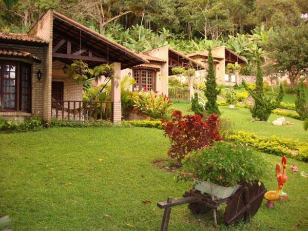 A garden outside Pousada Chale Cana Brava