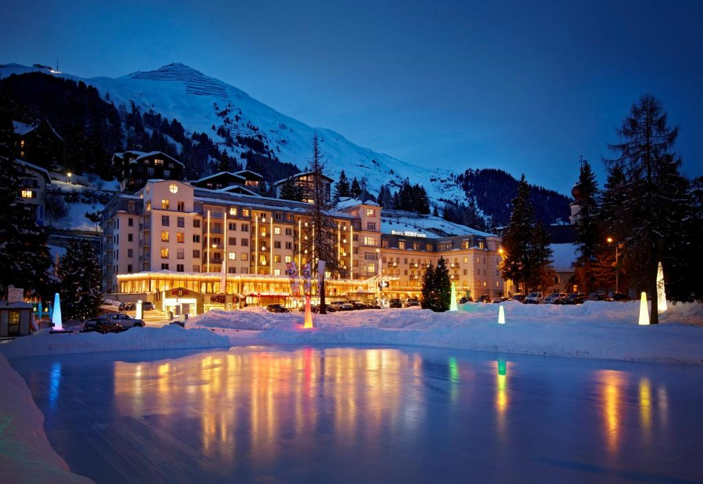 Hotel Seehof during the winter