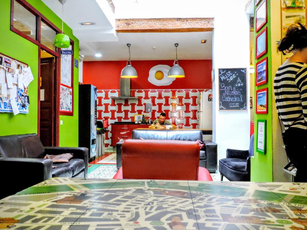 The lobby or reception area at Home Youth Hostel by Feetup Hostels