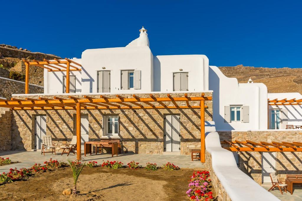 Αίθριο ή υπαίθριος χώρος στο 4Z Mykonos Ftelia Villas