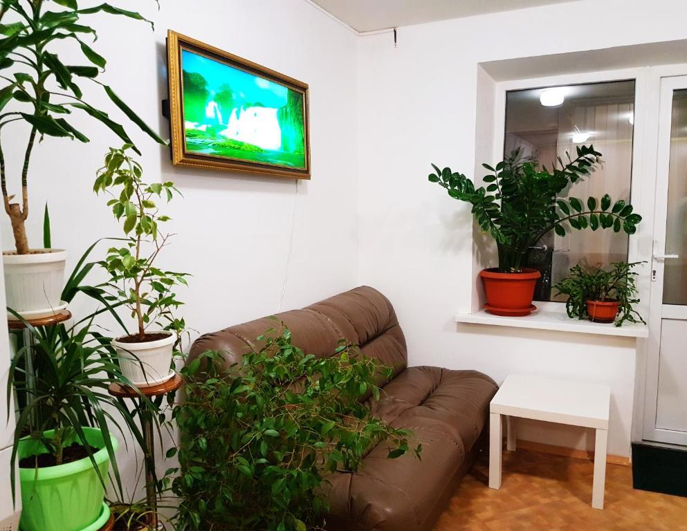 Телевизор и/или развлекательный центр в Хостел Уют в Курске