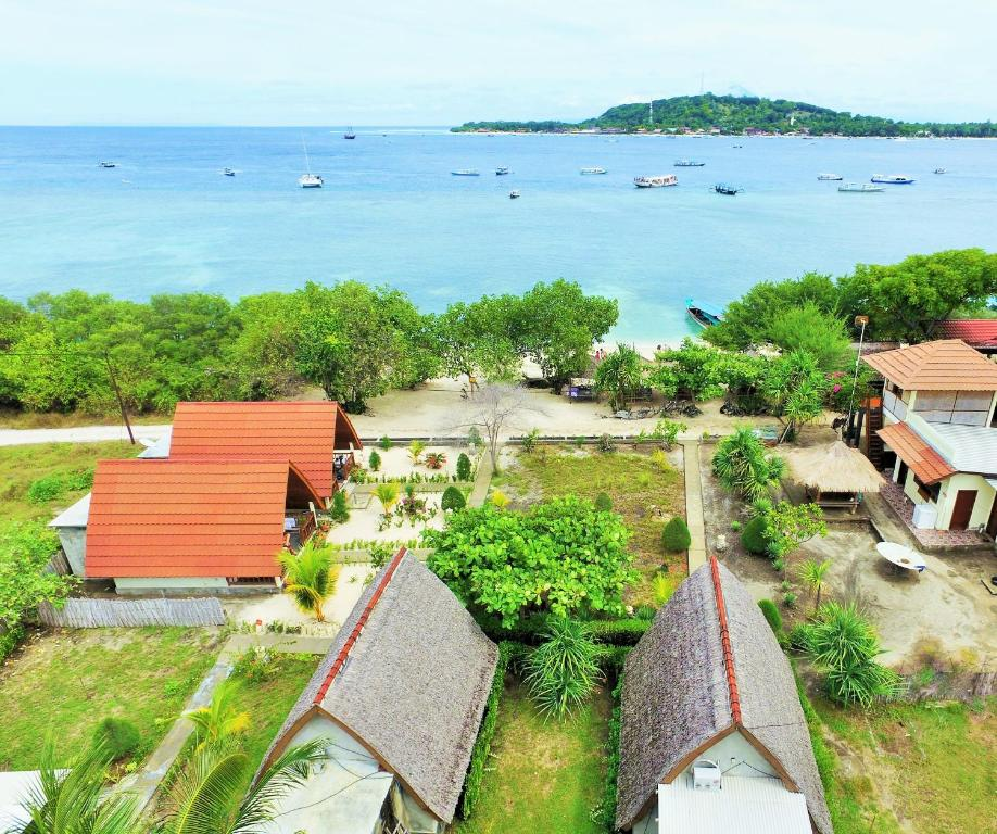 A bird's-eye view of Two Brothers Bungalows
