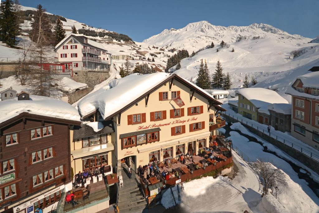 L'établissement Hotel 3 Könige & Post en hiver