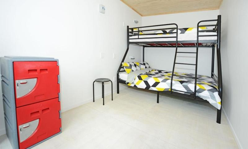 A bunk bed or bunk beds in a room at Matamata Backpackers