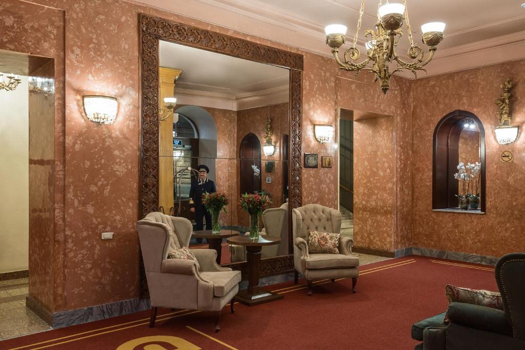 Лобби или стойка регистрации в Гостиница Будапешт