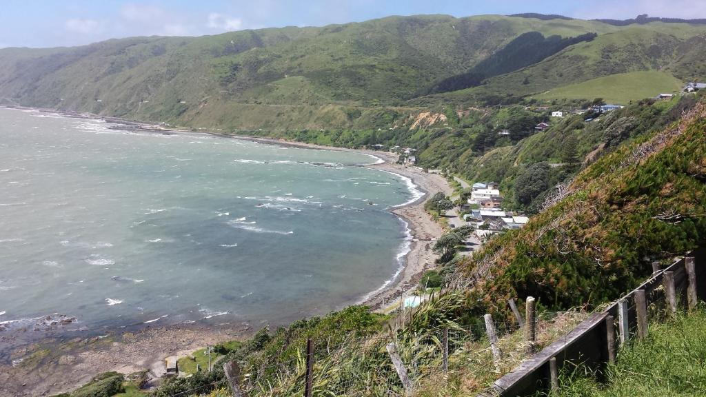 A bird's-eye view of Kapiti Waves B&B