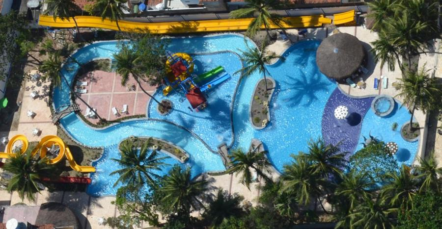A view of the pool at Matsubara Acqua Park Hotel or nearby