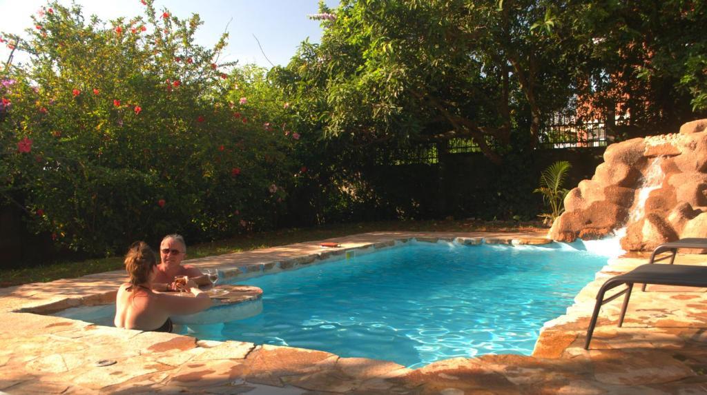 The swimming pool at or near Karibu Entebbe
