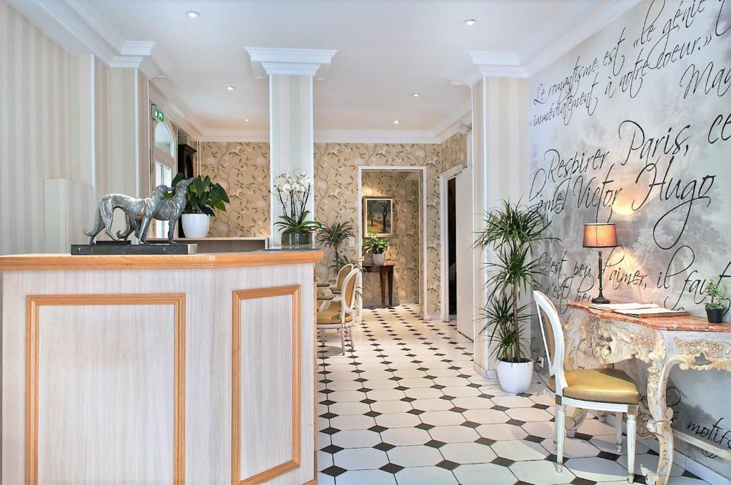 The lobby or reception area at Romance Malesherbes by Patrick Hayat