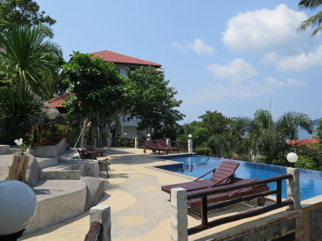 The swimming pool at or near Viking House Villa