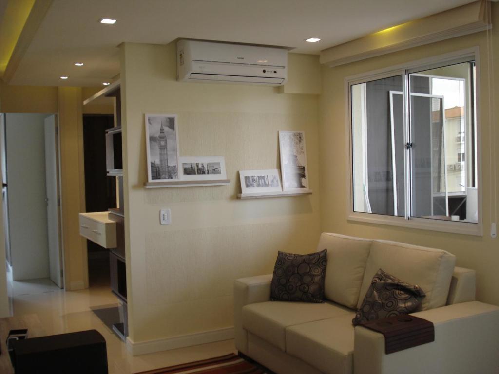 A seating area at Apartamento Aeroporto