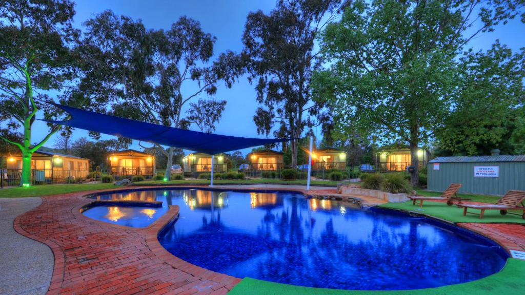 The swimming pool at or near Great Aussie Holiday Park