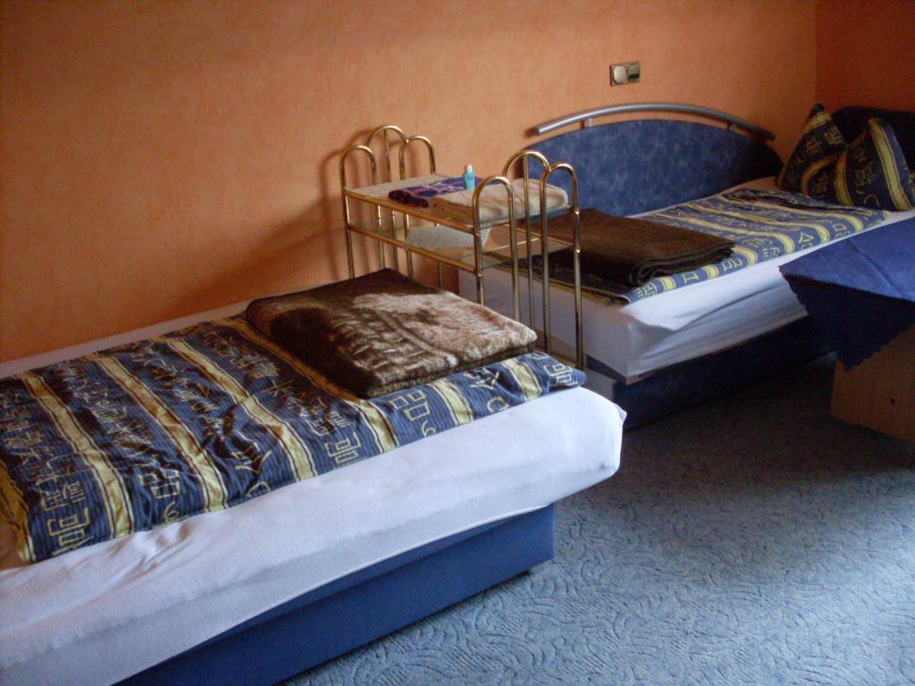 Ein Bett oder Betten in einem Zimmer der Unterkunft Ferienwohnung & Zimmervermietung Spaete