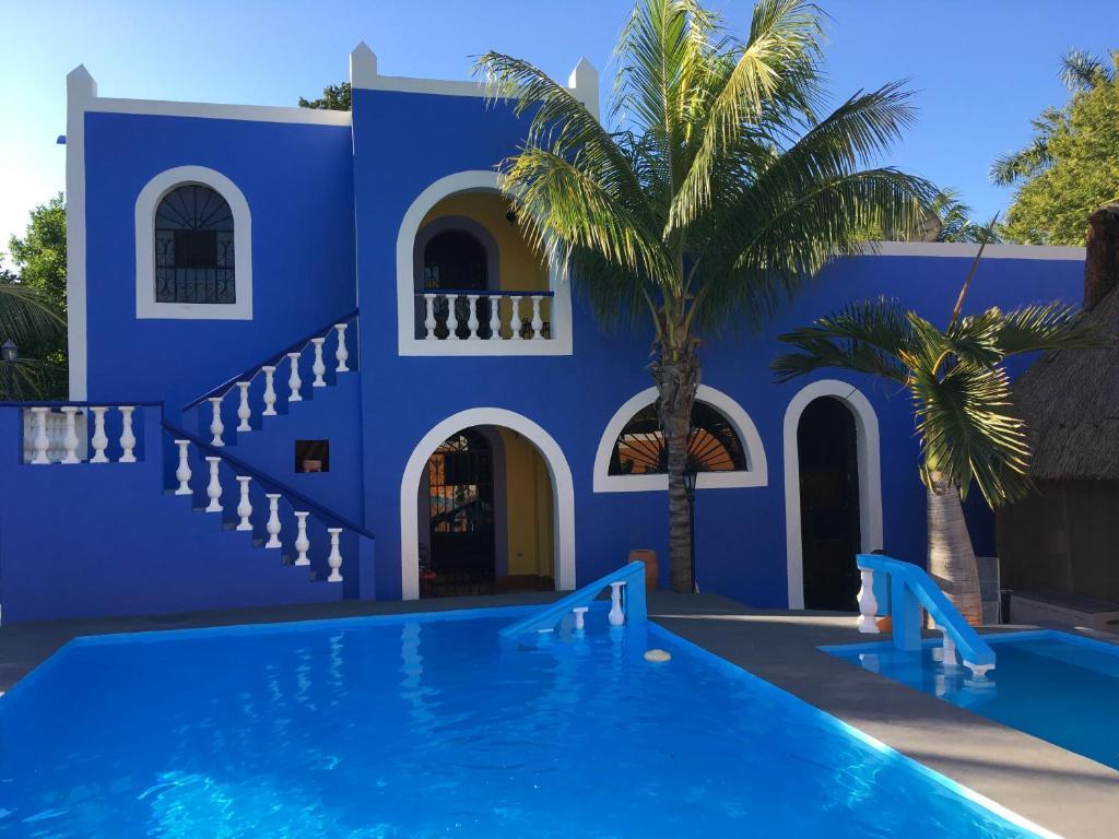 Bazén v ubytovaní Hacienda San Pedro Nohpat alebo v jeho blízkosti