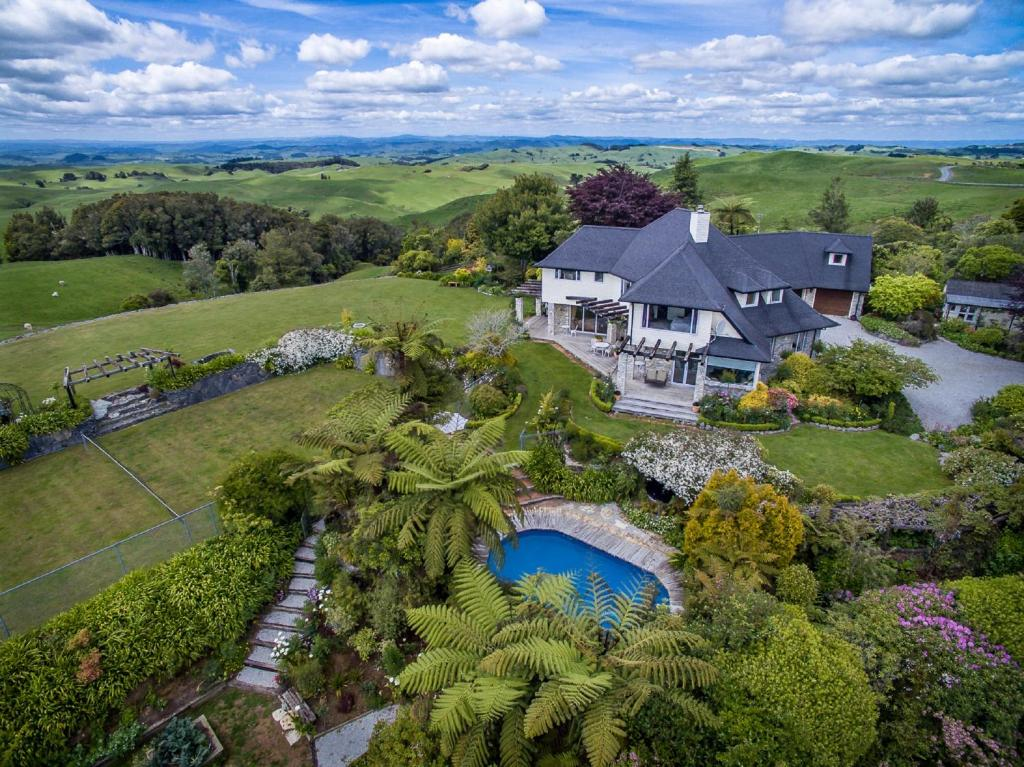 A bird's-eye view of Waitomo Boutique Lodge