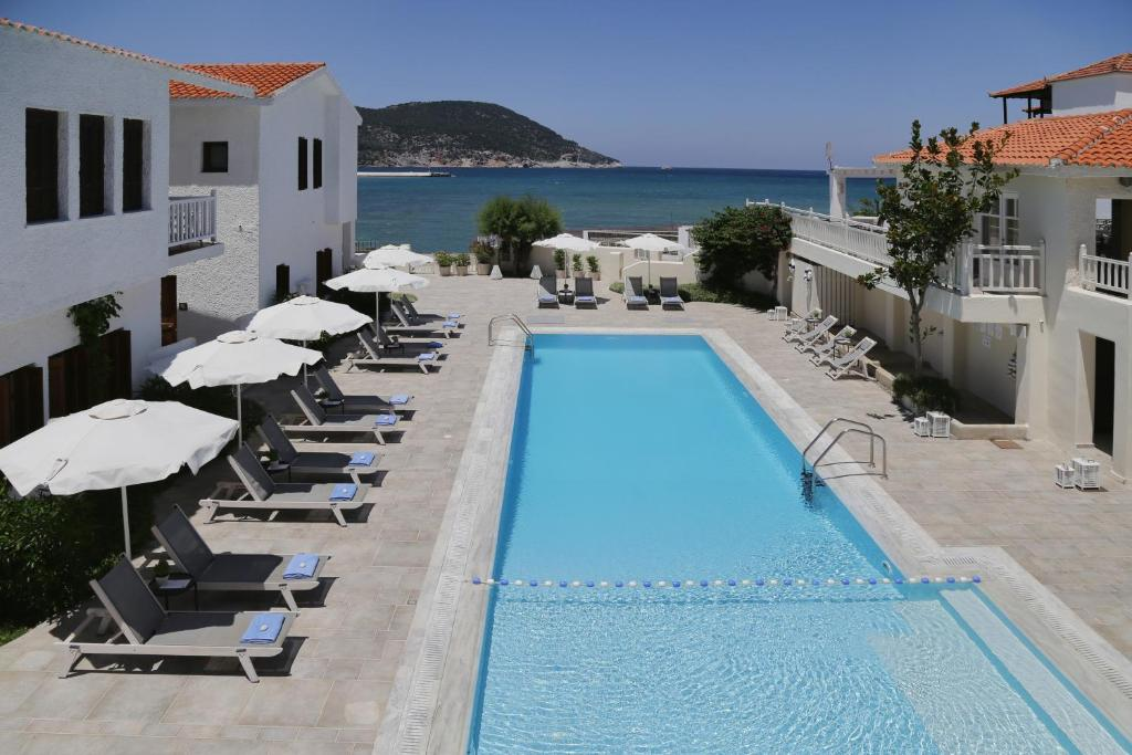 The swimming pool at or near Skopelos Village