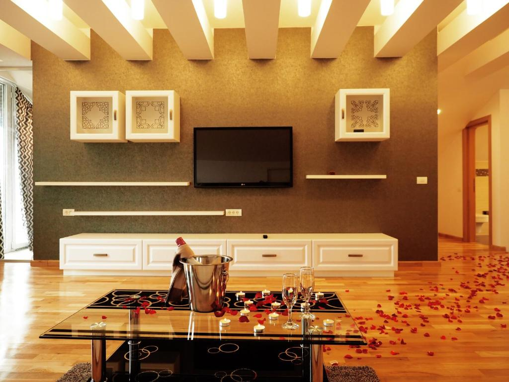 A television and/or entertainment center at 5 Star Residence