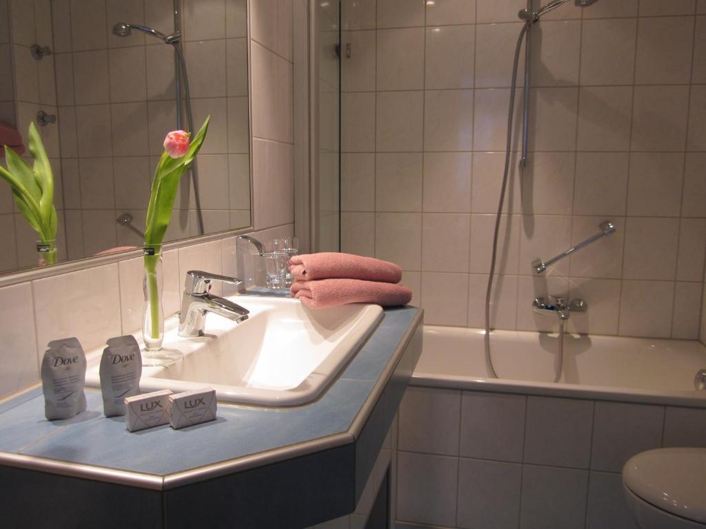 A bathroom at Hotel Anlage Heidelberg