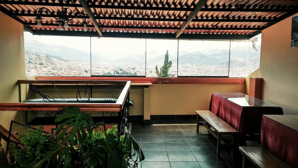 Un balcón o terraza de Santana Hostel
