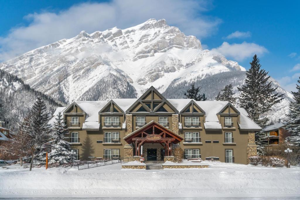 Banff Inn during the winter