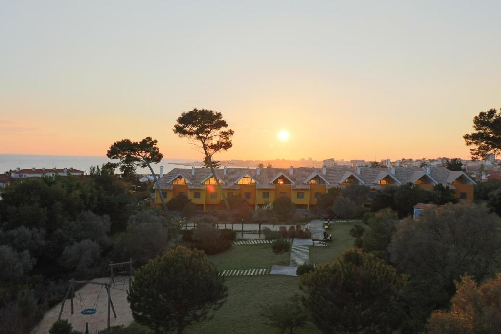 The sunrise or sunset as seen from the apartment or nearby