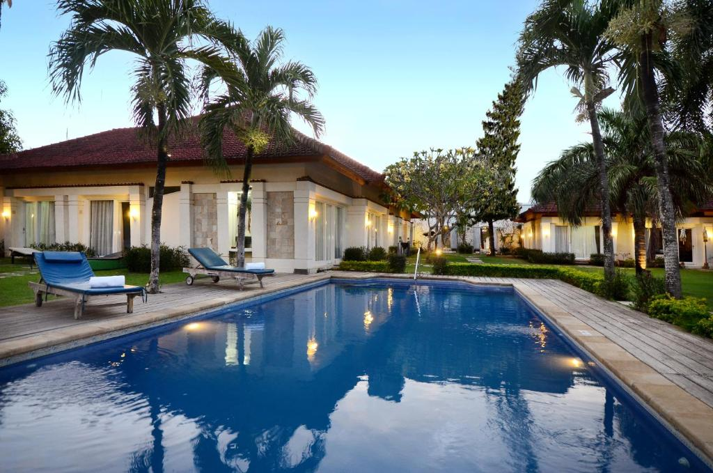 The swimming pool at or near Bali Breezz Hotel