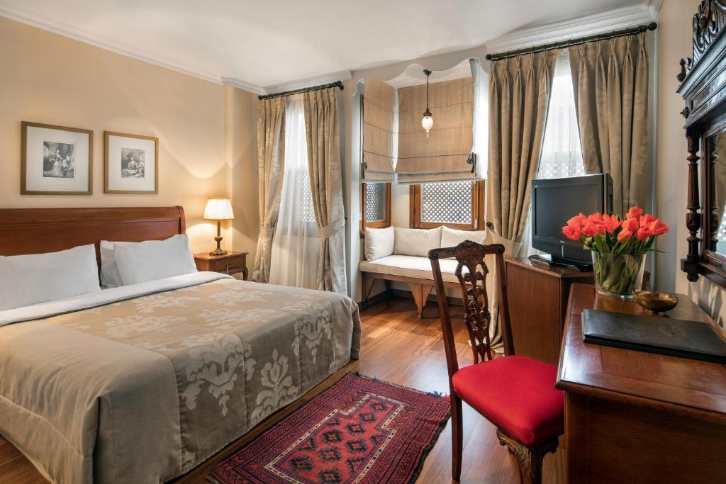 Lova arba lovos apgyvendinimo įstaigoje Hotel Sari Konak